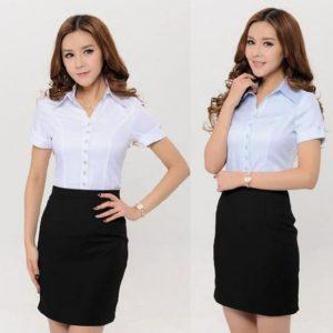 Mẫu đồng phục váy đà nẵng 07