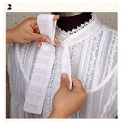 Thắt nơ áo đồng phục step 2