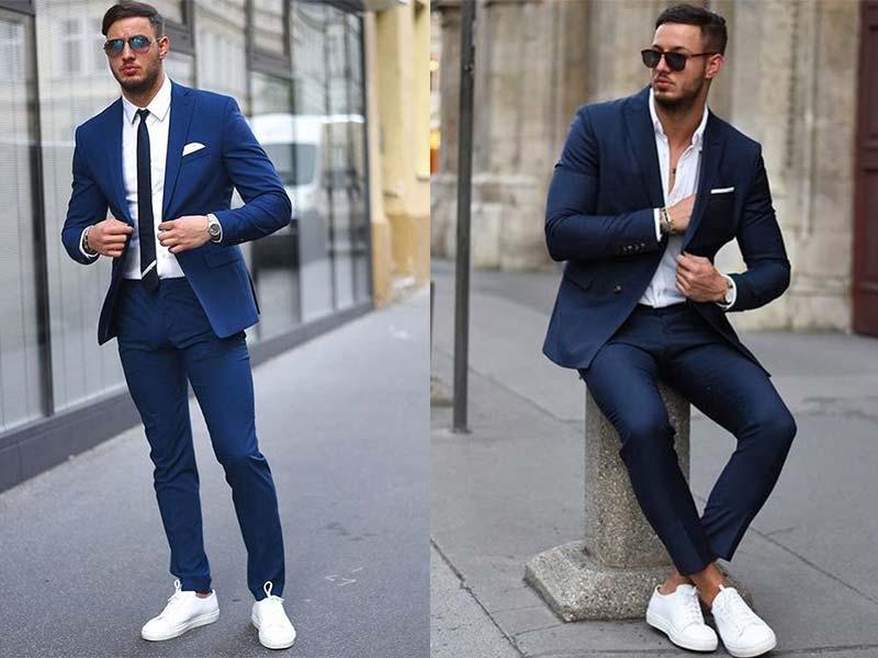 không nên phối vest với giày thể thao khác màu