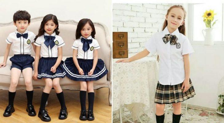 đồng phục học sinh tiểu học nữ